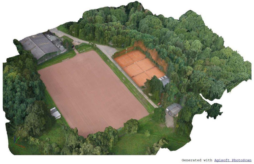Drohne UAV Vermessung Sportplatz