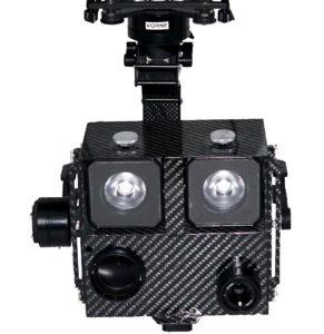 Gimbal für Drohne UAV mit Zoom Kamera, Wärmebildkamera und Scheinwerfer