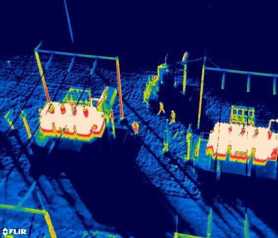 Inspektion Überwachung Thermografie Wärmebildkamera Drohnen