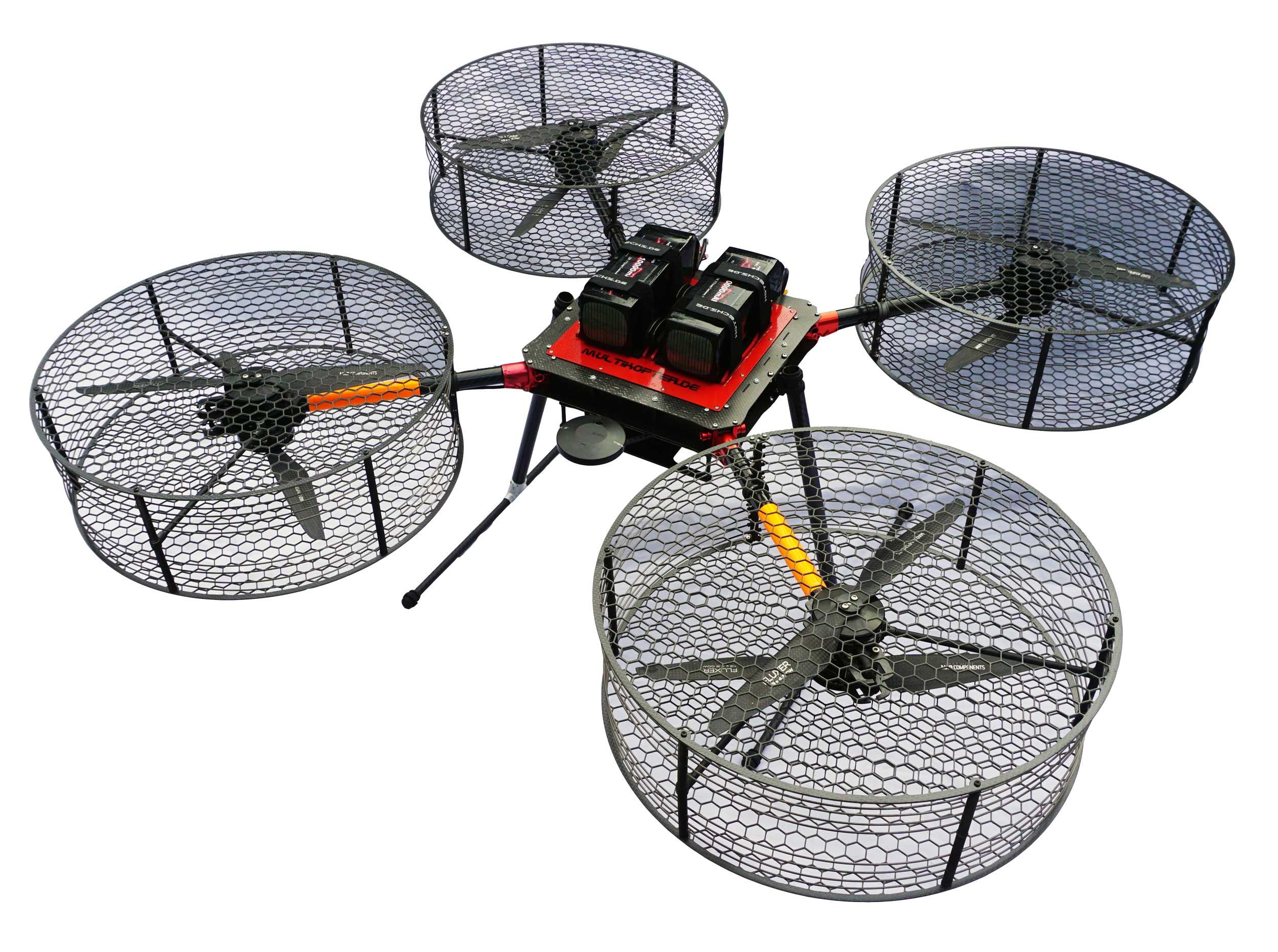 Drohne UAV für Forschungsprojekt inkl. Schutzkäfig