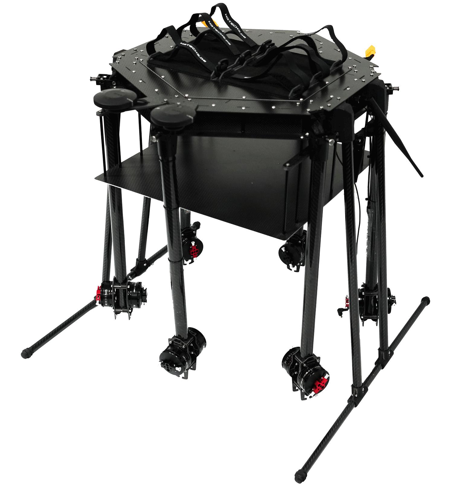 Drohne mit bis zu 7,5kg Nutzlast für Transport und Forschung