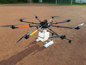 Sprühdrohne UAV Weinberg Landwirtschaft